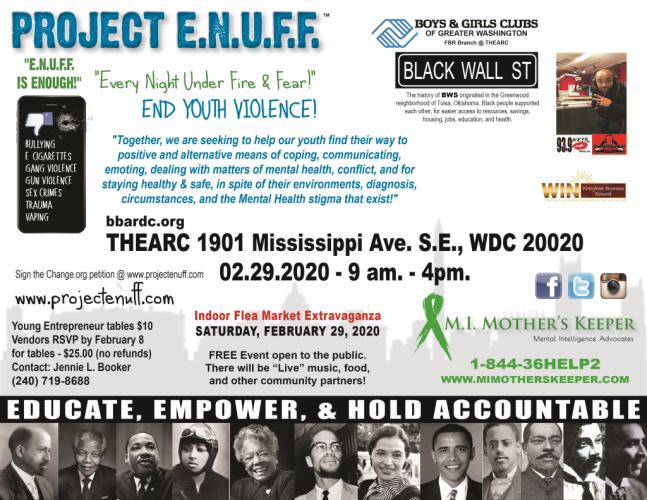 Project ENUFF I Black Wall ST Flyer1facebook